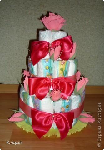 Тортик из подгузников фото 1