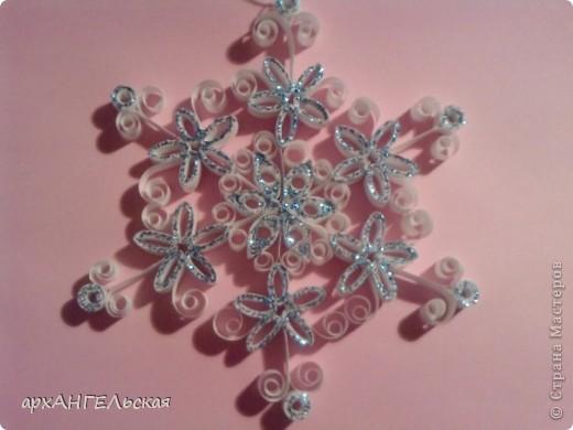 снежинка диаметр 5,5 см =) фото 4