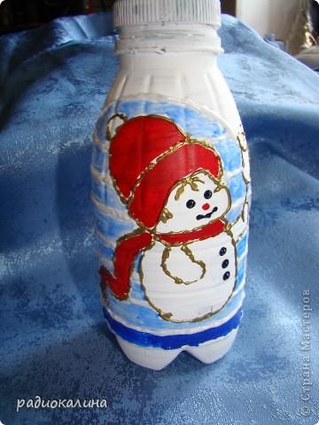 Сделала я недавно домик для Дедушки Мороза, а Снеговичку домика не сделала и он загрустил. фото 4