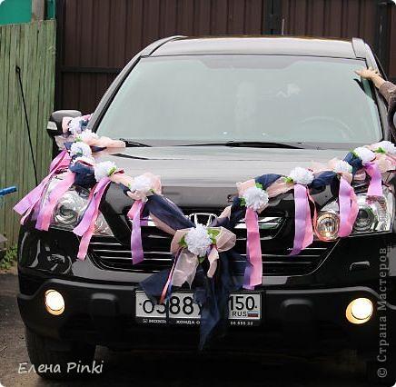Доброй ночи, дорогие мастерицы!! Хочу поделиться с вами процессом создания свадебного украшения на машину. Делалось впервые, буду рада мнению со стороны фото 16