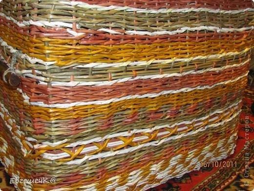 Здравствуйте, жители страны мастеров! Вот решила потренироваться в техниках плетения, получился коробок под игрушки размеры 40*67см, высота 54 см. фото 2
