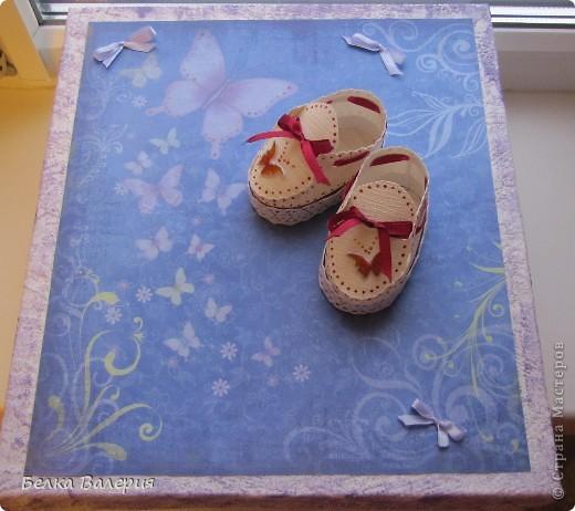 Сделала подарочную коробку для моего альбома http://stranamasterov.ru/node/250659 фото 1