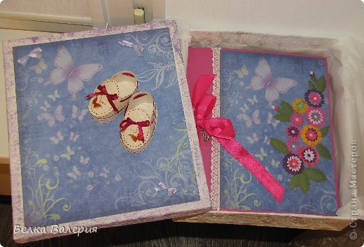 Сделала подарочную коробку для моего альбома http://stranamasterov.ru/node/250659 фото 3