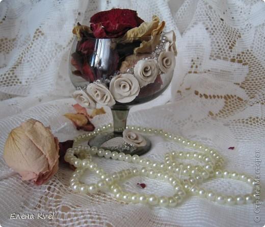 Вот и мой бокальчик.... для лепестков роз)) фото 12