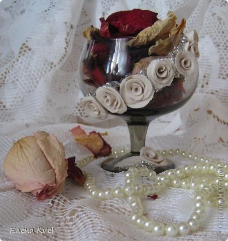 Вот и мой бокальчик.... для лепестков роз)) фото 1