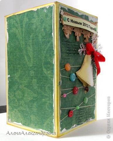 Начинаю подготовку к Новому году.Бумаги праздничной тематики пока нет, поэтому первые открытки из такой.  Идею такого колокольчика подсмотрела у польской мастерицы Агнешки http://agnieszka-scrappassion.blogspot.com/  фото 5
