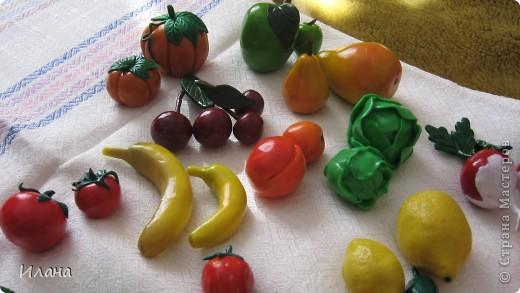 Фрукты и овощи из полимерной глины фото 1
