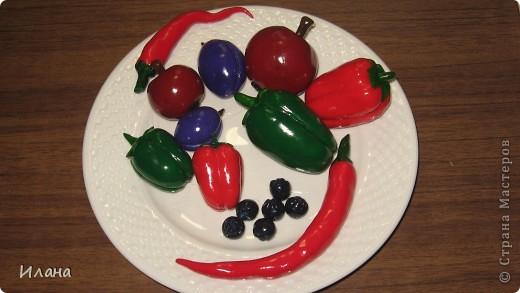 Фрукты и овощи из полимерной глины фото 3