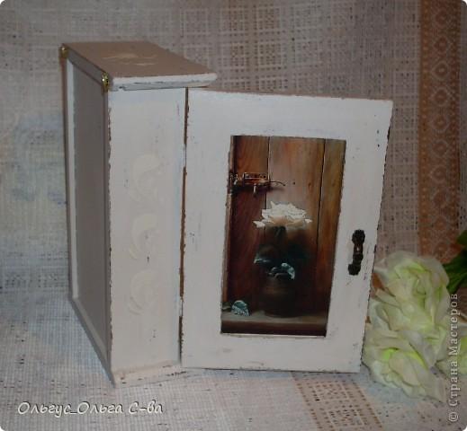 Очередная ключница в стиле шебби шик. фото 2