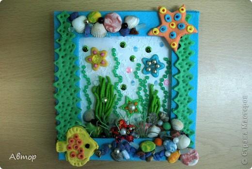 Рамочка из соленого теста на морскую тему - прекрасный подарок и просто украшение