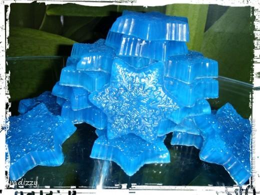 Звездочки мерцают, благодаря голубым блесткам ! фото 1