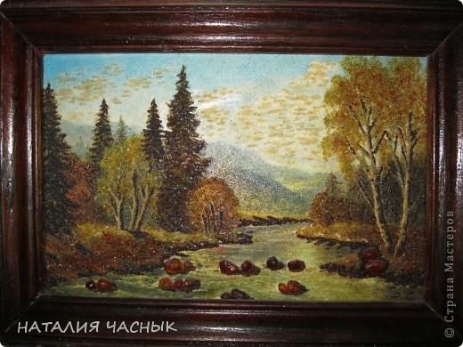 Такие картины сделала я из янтарной крошки.Это вторая моя картина фото 1