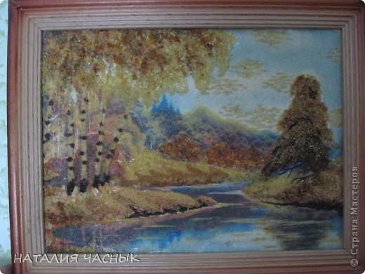 Такие картины сделала я из янтарной крошки.Это вторая моя картина фото 3