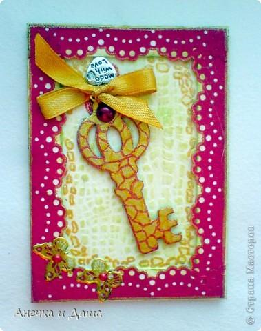 """Вот и закончилась наша игра! Очень приятно было получать все эти карточки, общаться, обсуждать какие-то детали..:)Спасибо Олисандре, что дала такую возможность: http://stranamasterov.ru/node/211670 Я получила (как считаю) ооооочень красивые """"ключики души""""!Есть и карточки со смыслом, а есть просто шикарные ключики!Наша команда: 1) Я (командир) :) 2)АлЁнА. К.  3)AnnaDemakova 4)tvvlasova1 5)Yuliya L  Хочу немножко похвастаться: фото 9"""