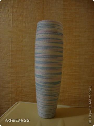 """Добрый вечер, мастерицы! Выставляю свою """"теплую"""" вазу. как раз для промозглых осенних вечеров. внутри ваза стеклянная, поэтому можно ставить в нее живые цветы. вот такой подарок маме) фото 1"""