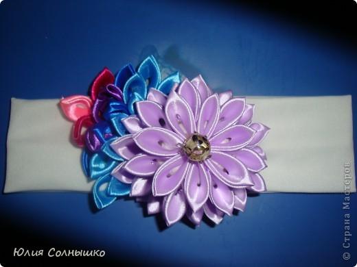многослойный цветок с веточкой фото 1