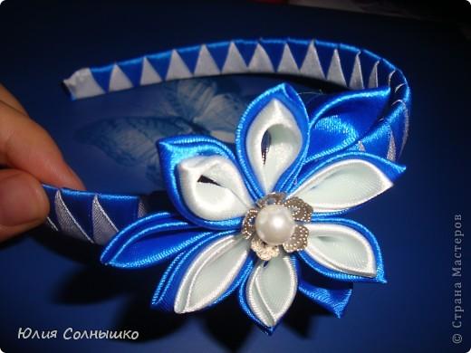 многослойный цветок с веточкой фото 2