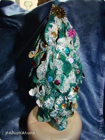 Грустил маленький домик снеговичка и чтобы ему было веселее придумалась маленькая елочка ( бутылочки пластмаасовые все никак не кончатся). фото 8