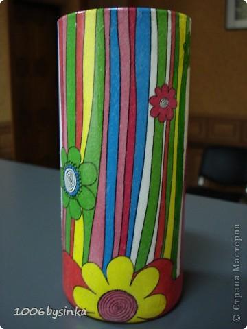 Вот такое панно в подарок, оно правда сделано в более розовых тонахи с двухшаговым кракле, но фотик почему то не передал эти нюансы. фото 2