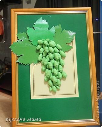 хочу поделиться с вами, уважаемые жители страны, виноградом, который я увидела у kasanka и решила повторить, уж очень мне понравилась необычная идея выполнения такого виноградика. фото 1