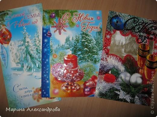 скоро новый год, нашла у себя кучу новогодних открыток (естественно старых)...и решила что на кружке с детками будем творить открыточки своими руками! известно что подарок сделанный руками ребенка приносит радость и тепло! фото 6