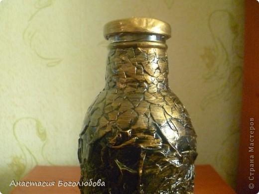 Вот такая бутылочка у меня получилась! Я еще только учусь декорировать предметы, решила выставить свою работу и показать ее со всех сторон, очень хочу чтобы Вы ее оценили!:) фото 5