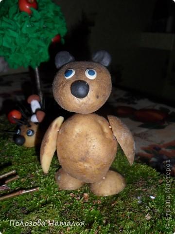 Медведь из картошки своими руками фото