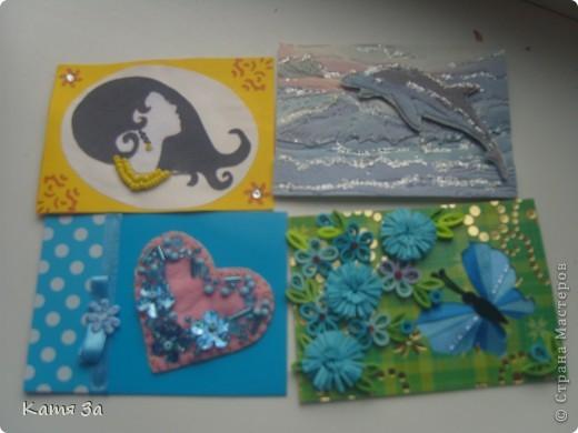 """В последнее время я увлеклась декупажем, и решила сделать серию в этой технике. Фон карточки катон+акриловая краска, ажурная салфетка использованна как трафарет (а не приклеена). АТС """"лаванда"""", для создания серии я использовала канву, салфетки, акриловые краски и микробисер.  Приглашаю кредиторов: bibka, bagira, Nono4ka и Алин@. И всех-всех, кому понравится!  Карточки на новеньком """"лавандовом"""" подносе. :))) фото 8"""