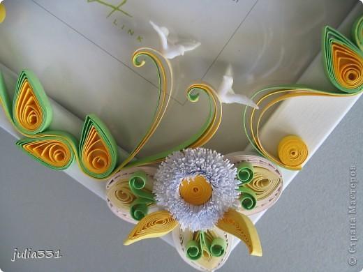Эту рамочку сделала в подарок друзьям по их возвращению из свадебного путешествия, в дополнение к http://stranamasterov.ru/node/222394 фото 2