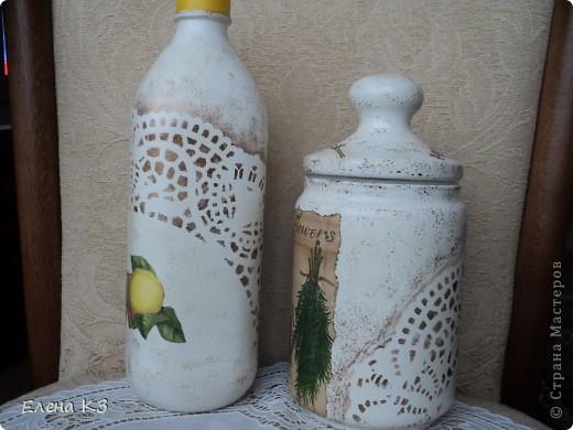 """С детства помню что моя бабушка называла растительное масло """"прованским"""", даже не знаю почему. Но в памяти осталось и когда я решила сделать себе бутылочку для оливкового масла образ всплыл сразу - прованс, лаванда!!!!! Вот и получилось - прованское.  фото 2"""