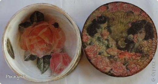 Всем  жителям СМ  приветик и наилучшие пожелания! Тема не моя, но приглянулась рисовая карта с розами и сделала вот такой комплект - тарелка -панно( диаметр 30 см) и шкатулка фото 5