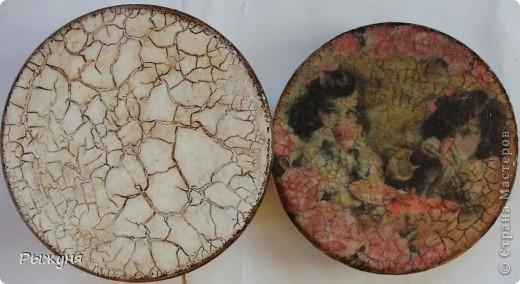 Всем  жителям СМ  приветик и наилучшие пожелания! Тема не моя, но приглянулась рисовая карта с розами и сделала вот такой комплект - тарелка -панно( диаметр 30 см) и шкатулка фото 10