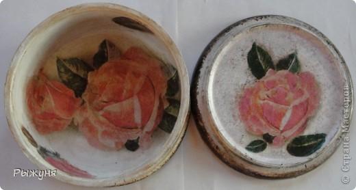 Всем  жителям СМ  приветик и наилучшие пожелания! Тема не моя, но приглянулась рисовая карта с розами и сделала вот такой комплект - тарелка -панно( диаметр 30 см) и шкатулка фото 6