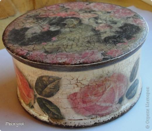 Всем  жителям СМ  приветик и наилучшие пожелания! Тема не моя, но приглянулась рисовая карта с розами и сделала вот такой комплект - тарелка -панно( диаметр 30 см) и шкатулка фото 8