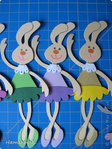 Вот такая у меня получилась балетная группа из зайчат.  фото 10