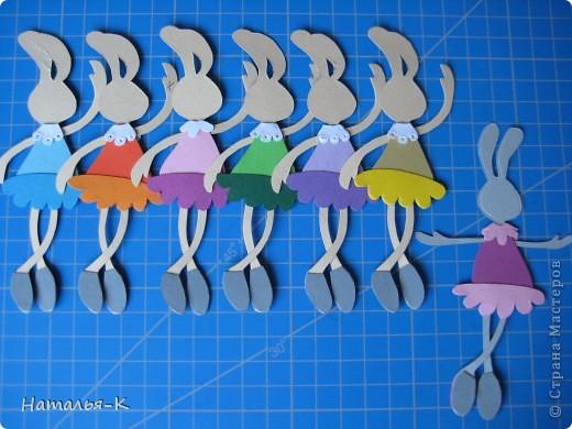 Вот такая у меня получилась балетная группа из зайчат.  фото 12