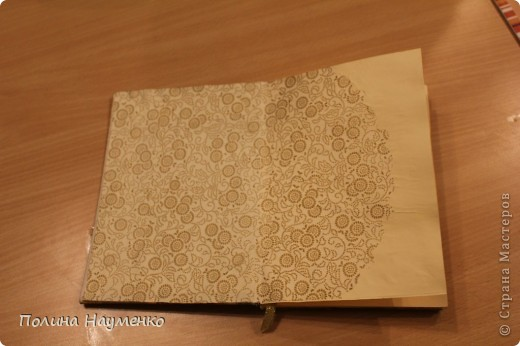 Увидела, как девчонки делают блокноты с нуля и решила попробовать сама)))  Это обложка)) фото 2