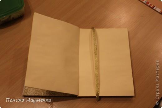 Увидела, как девчонки делают блокноты с нуля и решила попробовать сама)))  Это обложка)) фото 3
