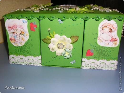 Крышка коробки. Идей как украсить не было никаких и в результате вышло это... фото 2