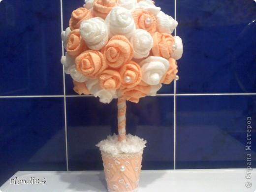 Ура! Я тоже научилась делать дерево из роз! фото 4