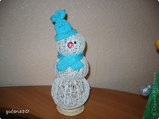 Снеговик и елочка фото 1