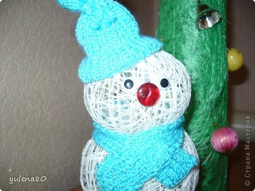Снеговик и елочка фото 2