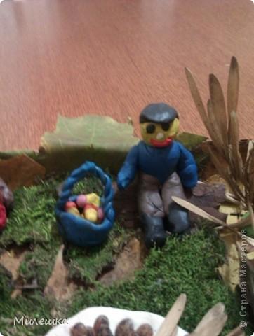 """В детском саду у сына объявили конкурс семейных поделок из природного материала. Мы с сыном придумали сказочную историю, которую назвали """"Праздничный ужин в лесу"""".  фото 7"""