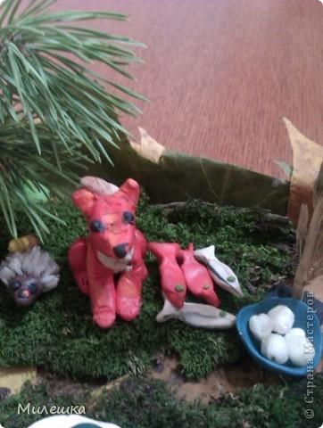"""В детском саду у сына объявили конкурс семейных поделок из природного материала. Мы с сыном придумали сказочную историю, которую назвали """"Праздничный ужин в лесу"""".  фото 6"""