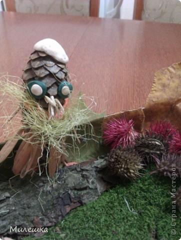 """В детском саду у сына объявили конкурс семейных поделок из природного материала. Мы с сыном придумали сказочную историю, которую назвали """"Праздничный ужин в лесу"""".  фото 9"""