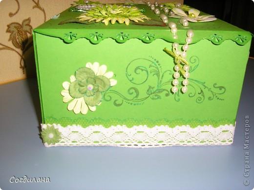 Крышка коробки. Идей как украсить не было никаких и в результате вышло это... фото 7