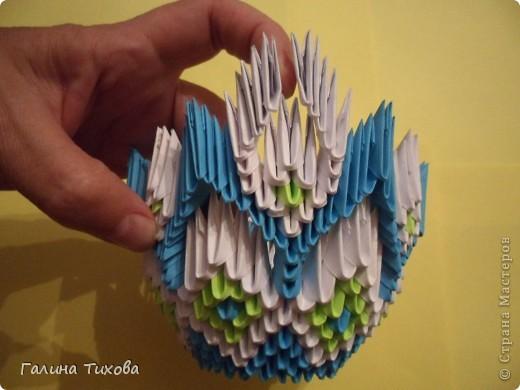Корзинка, Ваза, Конфетница - Модульное оригами, Схемы сборки, Пошаговые фото, Мастер класс.