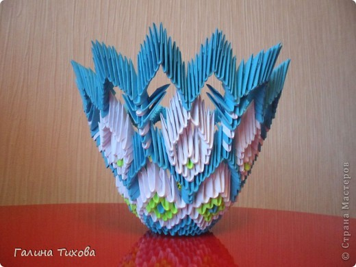 Модульное оригами - конфетница картинки