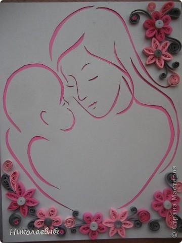 Картинки мать с ребенком на руках в стиле квиллинг, про