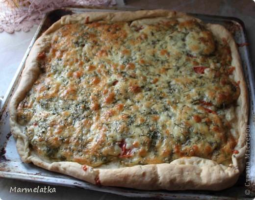 Закусочный пирог с сыром и помидорами фото 2